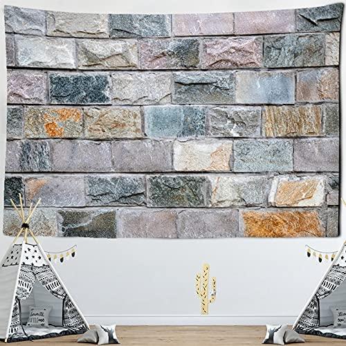 BFDSJU tapizTapiz de Pared de Piedra de ladrillo Impreso Tapiz Colgante Mandala Boho Tapiz Hippie psicodélico decoración del hogar Toalla