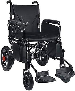 Sillas de ruedas eléctricas para adultos Sillas de ruedas eléctrica, alimentada eléctricamente silla de ruedas plegable de peso ligero, motorizada silla de ruedas Scooter confortable en el hogar y al