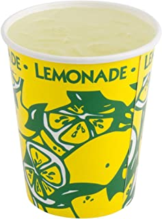 Perfect Stix LCL16-50 Squat Paper Lemonade Cup with Lids, 16 oz. (Pack 50 Cups, Straws and Lids) (Pack of 50)