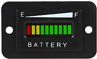 Cococart 48V LED Battery Indicator Meter Gauge for EZGO Club Golf Cart Yamaha Car Marine Jet Ski