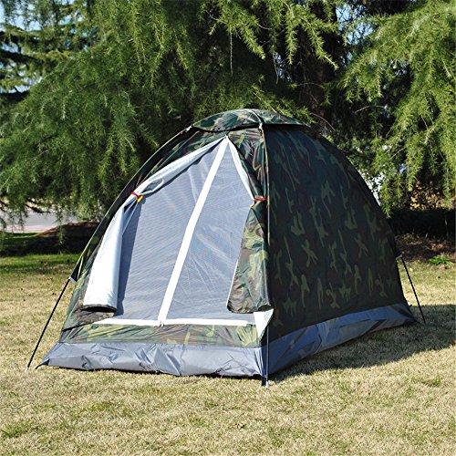 MONEYY Tente de Camping Piscine Personne Simple Camouflage Tente Tente sur Le Terrain de Pique-Nique 200 * 100 * 100cm Poster