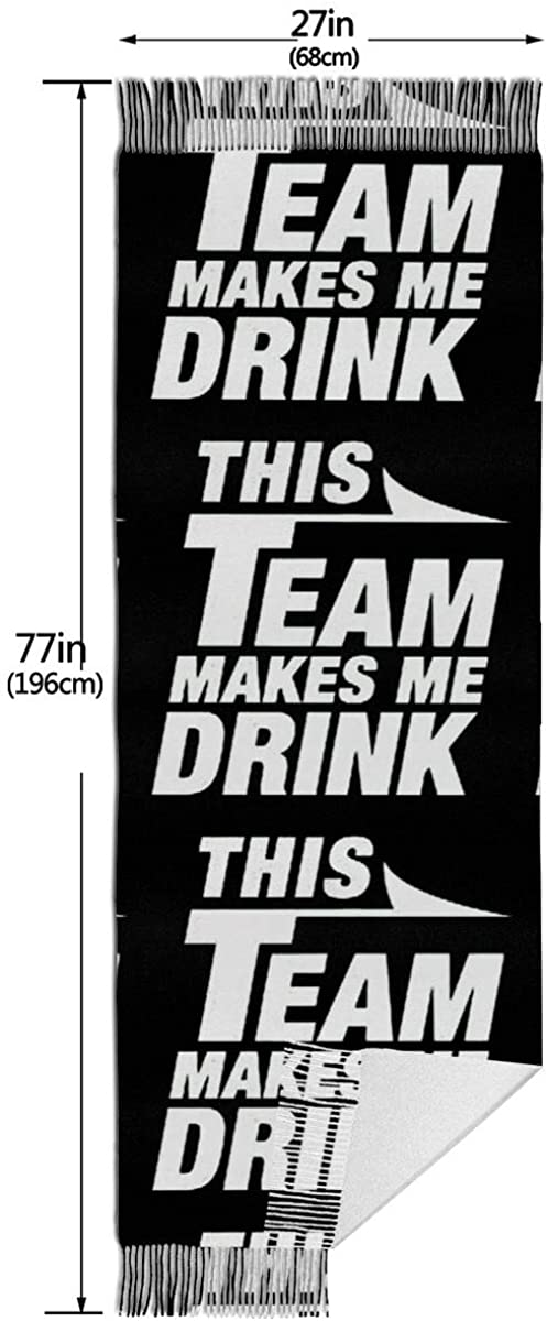 This Team Makes ME Drink. Winter Scarf Cashmere Scarves Stylish Shawl Wraps Blanket