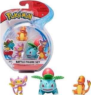 Pokémon Battle Figure Ivysaur, Charmander, Aipom, Multi Color, PKW0044