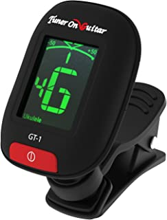 Tuner On Guitar – Clip-On Tuner for All Instruments, Guitar, Ukulele, Bass, Violin,..