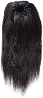 Wig Hair Lace Front Wig Female Natural Color,Hairpieces (Color : Black, Size : 18inch)