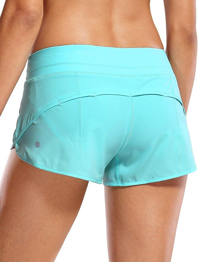 3543 opiniones para CRZ YOGA Pantalón Corto para Mujer Shorts con Bolsillo Cremallera -6cm
