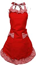 cute red apron