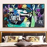 Pintura sin Marco Cartel de Arte Abstracto de Gran tamaño clásico Cuadro de Pared Abstracto clásico para Sala de Estar decoración del hogarZGQ3120 30X55cm