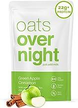 Oats Overnight - Green Apple Cinnamon (16 Pack)High Protein, Low Sugar Breakfast - Gluten Free, High Fiber, Non GMOOatme...