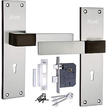 """Atom Lock AL-51 K/Y B.S. 8"""" with lezend 65 mm Double Action Mortise Door Lock (Silver)"""