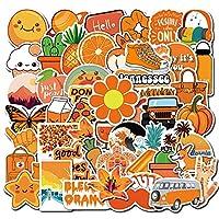 SHOUGONG 50 PCSオレンジ漫画のステッカーノートパソコンの冷蔵庫スケートスーツケースグラフィティコンピュータステッカー防水ステッカーガール (Color : Colorful)