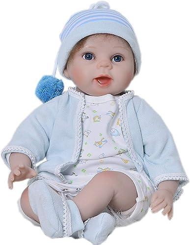 DMZH 55cm Warme Familie Reborn Babypuppen Süss Baby Simulation Neugeborenes Stoff Karosserie Weiß puppe Kinder Spielzeug Geburtstag Weißachten Geschenke