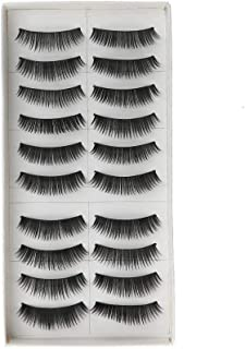 Daluci® False Eyelashes 3D Faux Mink Fake Eyelashes Handmade Dramatic Thick Crossed Cluster False Eyelashes Black Nature Fluffy Long Soft Reusable (10 Pairs)