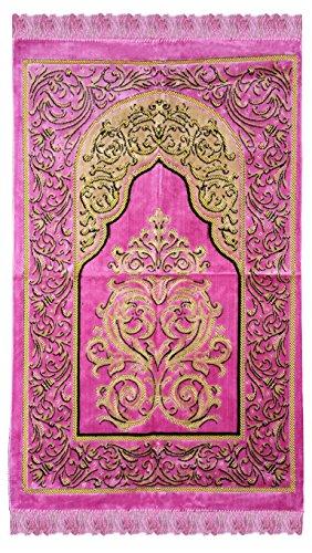 Hazal Kadife Seccade Samt Gebetsteppich Velvet Prayer Carpet (66-69cm X 108-110cm)