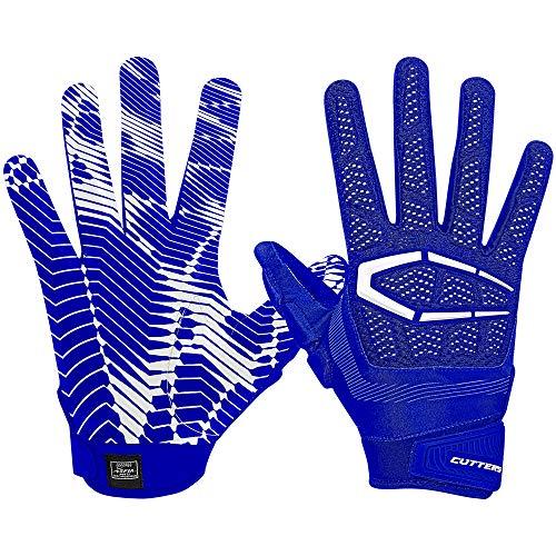 Cutters S652 Gamer 3.0 Padded Gloves leicht gepolsterte Football Handschuhe Design 2018 - royal Gr. M