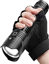 Super Bright Powerful Flashlight Rechargeable LED Hand Lamp USB Torch 26650/18650 Zoom Tactical Flash Light (Emitting Colo...