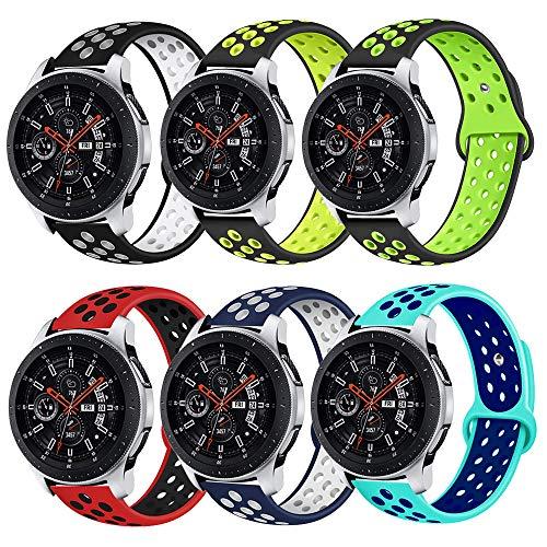 Lerxiuer Compatible para Galaxy Watch 46mm/Gear S3 Frontier/Classic Correa, 22mm Banda de Reloj de Caucho de Silicona Correa de liberación rápida Brazalete Deportivo para Galaxy Watch 46mm Gear S3