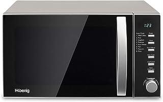 H.Koenig Four à Micro-ondes VIO2 Compact Digital 20L, 700W, Plateau tournant 24,5cm, Multifonction Programmable 6 niveaux ...