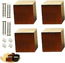 4 poten voor massief houten meubels, poten voor vierkante banken, reservepoten, bureaupoten, stootborden voor liftmeubels,...
