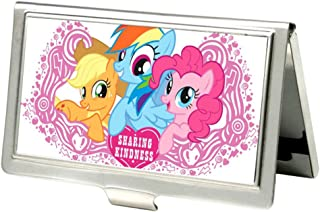 Buckle-Down Metal Wallet-Sharing Kindness Apple Jack/Rainbow Dash/Pink