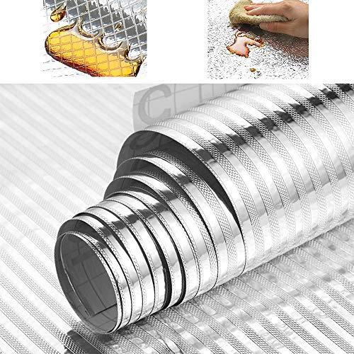 WANG Papel de Aluminio Entrepaños de cocina del papel pintado auto adhesivo...