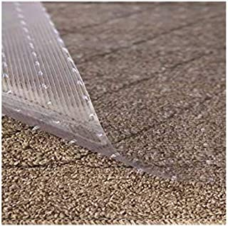 Resilia - Clear Vinyl Plastic Floor Runner/Protector for Deep Pile Carpet - Non-Skid Decorative Pattern, (27 Inches Wide x 12 Feet Long)