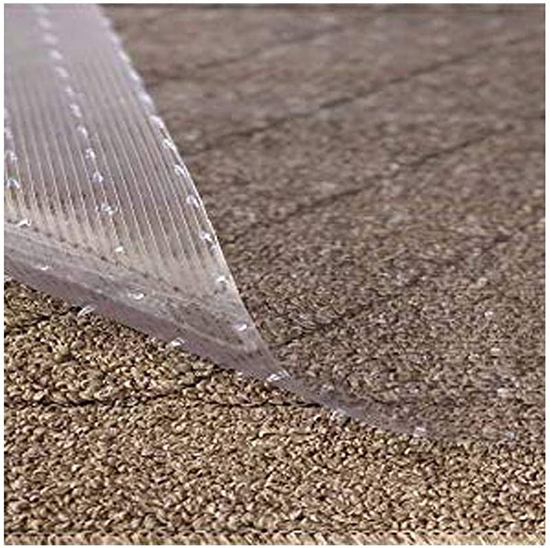 Resilia Clear Vinyl Plastic Floor Runner Protector For Deep Pile Carpet Non Skid Decorative Pattern 27 Inches Wide X 12 Feet Long