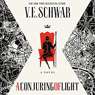 A Conjuring of Light     Shades of Magic, Book 3              Written by:                                                                                                                                 V. E. Schwab                               Narrated by:                                                                                                                                 Kate Reading,                                                                                        Michael Kramer                      Length: 19 hrs and 3 mins     47 ratings     Overall 4.7