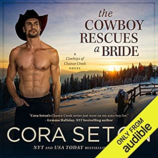 The Cowboy Rescues a Bride audiobook cover art