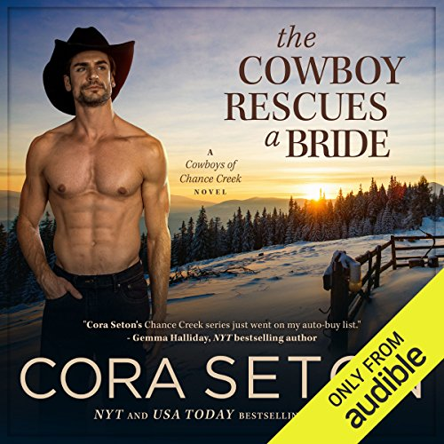 The Cowboy Rescues a Bride audiobook cover art