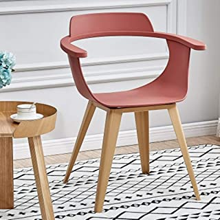 QFWM Sillas de Comedor Inicio Silla Moderna Simple Silla de Comedor for la Sala de Estar y Comedor Cocina Comedor Muebles (Color : Pink, Size : 50x77x44cm)