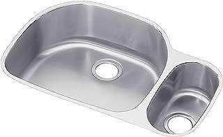 Elkay Lustertone ELUH322110R 70/30 Offset Double Bowl Undermount Stainless Steel Kitchen Sink