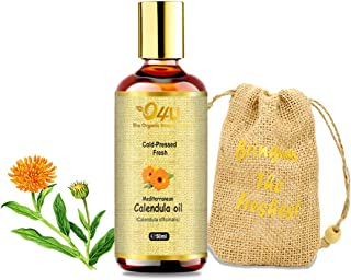 O4U Mediterranean Calendula Cold Pressed Freshest Organic Oil for Skin, Pain-Relief, and Aftershave Oil 100% Fresh and Organic Cold-Pressed Oil - 50 ml