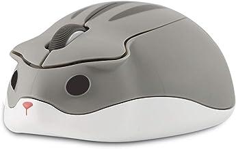 CHUYI Hamster Shape Wireless Silent Mouse Cartoon and Cute Mini Portable Travel Animal Mouse 1200DPI Novelty Optical Uniqu...