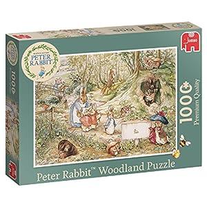 Jumbo 19480 Peter Rabbit Woodland Puzzle 1000 Piece Jigsaw, Green