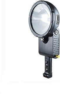 Image of Searchlight Spotlight Spot Lights Hand held Large Flashlight Marine searchlight Tripod Boat Xenon Search Light Handheld Hunting Light (Emitting Color : 55W)