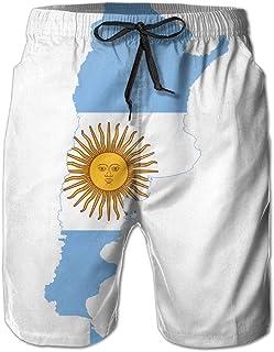 Pantalones de Playa para Hombre Pantalones Cortos de natación en seco para el Ocio Argentina, impresión en 3D para el Verano