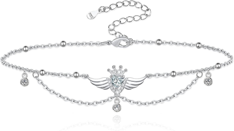 New item Cfustiy 925 Sterling Silver Angel Butterfly Wing OFFicial Anklet Bracelet