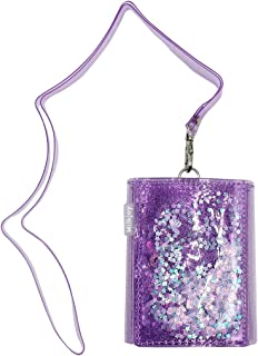 Charm Quicksand Purse Gorgeous Bifold Wallet Clear Money Clip Evening Clutch Bag Shiny Card Holder