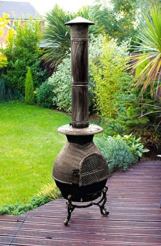 CAST IRON LARGE CHIMENEA / CHIMINEA 180CM / 6FT BNIB (6FT 180CM)