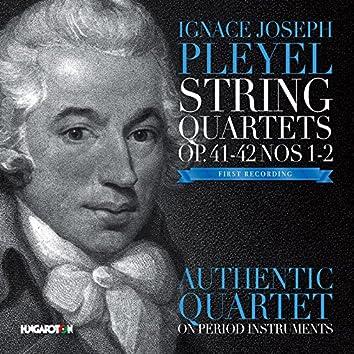 Pleyel: String Quartets, Opp. 41 & 42