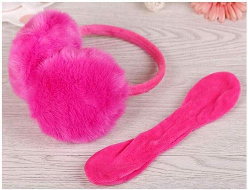 Hitc Winter Warm Outdoor Ear Covers,Stylish Ear Warmers,Simple Cute Students-Color Winter Earmuffs for Women Lovely