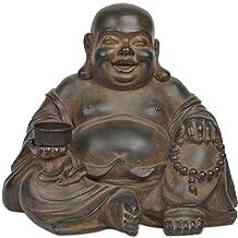 Newman House Studio Polyresin Decorative Buddha Tealight Holder Candle Holder 9.8L x 8.3W x 8.9H inch