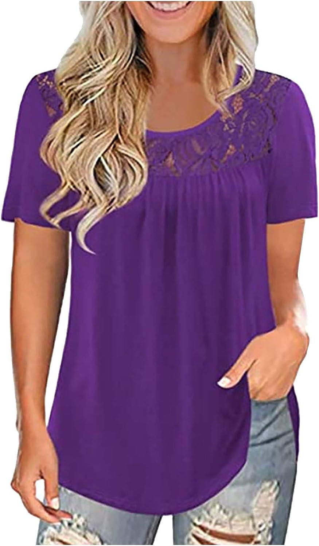 Womens Summer Tops,Womens Short Sleeve T Shirt Gradient Printed V Neck Tees Casual Loose Tops Blouse Shirts Tees