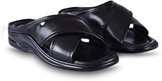 Action Men's Slip On Synthetic Leather & PU Sole Outdoor Casual Sandals