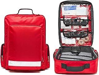 Gatycallaty First Aid Bag Empty Red Trauma Backpack for First Responder EMS EMT Medical Medic Emergency Treatment Equipmen...
