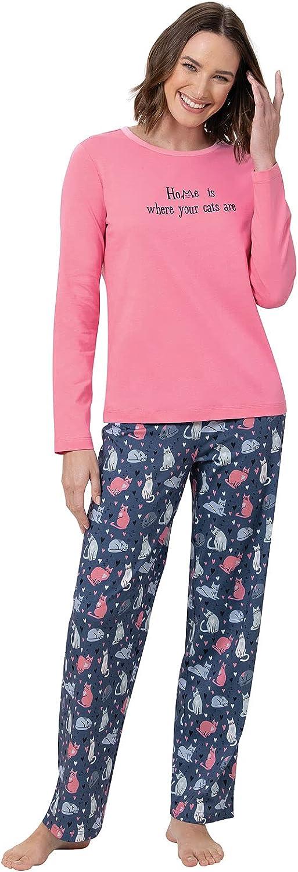 PajamaGram Women Pajamas Set Cotton - Women PJ Sets