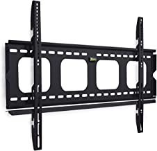 Mount-It! Fixed TV Wall Mount Bracket Slim Low-Profile for 50, 55, 60, 65, 70, 75, 80 Inch Flat Screen TVs, Heavy-Duty 220 lbs Capacity, Ultra-Slim Design Flush 1 inch Profile, VESA 800x400, 600x400