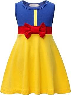 HenzWorld Snow White Belle Little Mermaid Ariel Elsa Anna Princess Costumes Dress Halloween Party 1-8 Years