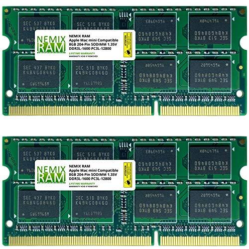 16GB 2X8GB NEMIX RAM Memory for Apple Mac Mini 2012